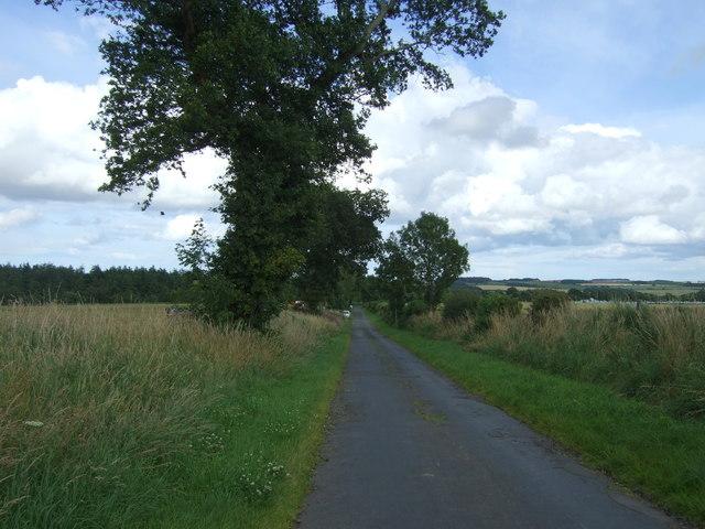 Minor road towards Chirnside