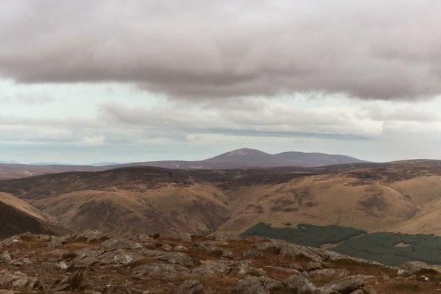 Driesh summit towards Glen Doll Forest