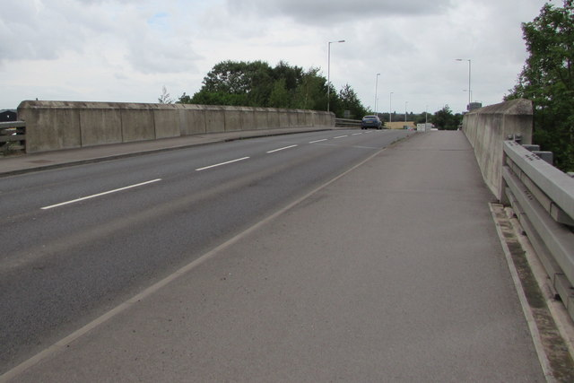 West across the A46 railway bridge, Ashchurch