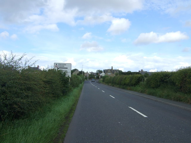 A6105 approaching Chirnside