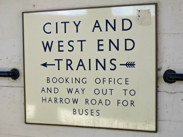 Sudbury Town tube station - sign