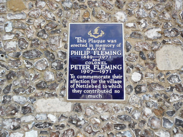 Plaque on the Old School House, Nettlebed