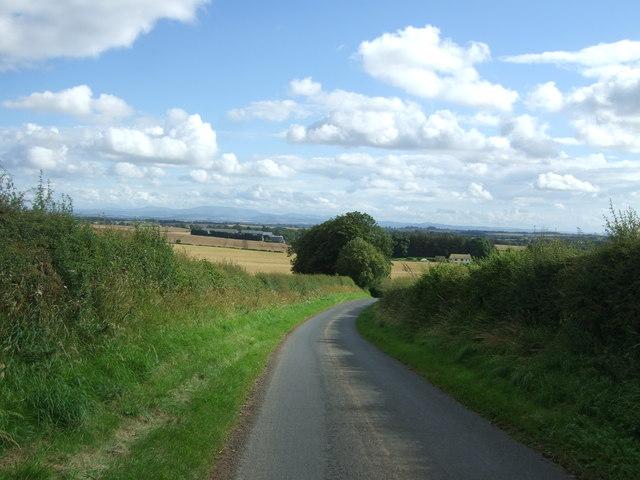Minor road towards Edington