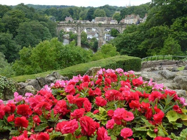 In the gardens of Knaresborough Castle