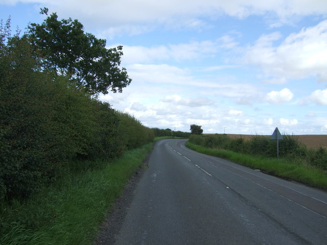 A6105 towards Foulden
