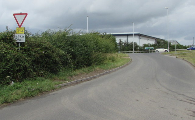 Give Way sign facing an Ashchurch lane