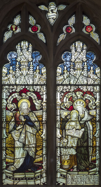 St Mary Magdalene, Hilton - Stained glass window