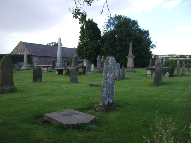 Old graveyard near Foulden Deans