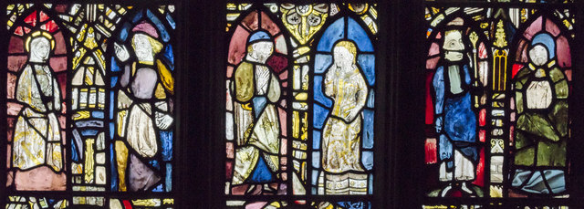 Detail of Vestry east window, St Mary's church, Warwick