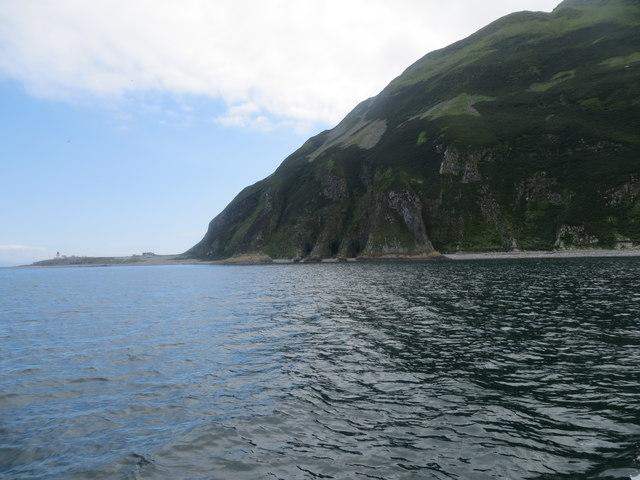 Swine holes below the cliffs on Ailsa Craig