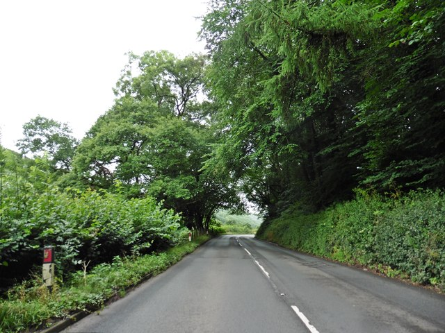 The A396, Exeter Road