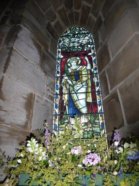 St Philip, Burwash Weald: stained glass window (E)
