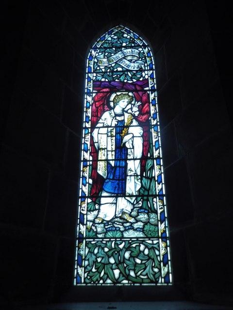 St Philip, Burwash Weald: stained glass window (G)