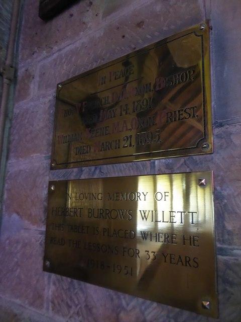 St Philip, Burwash Weald: memorials (7)
