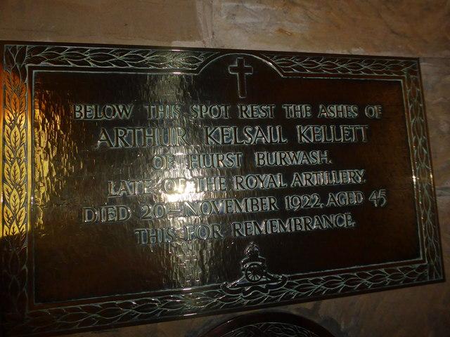 St Philip, Burwash Weald: memorial (8)