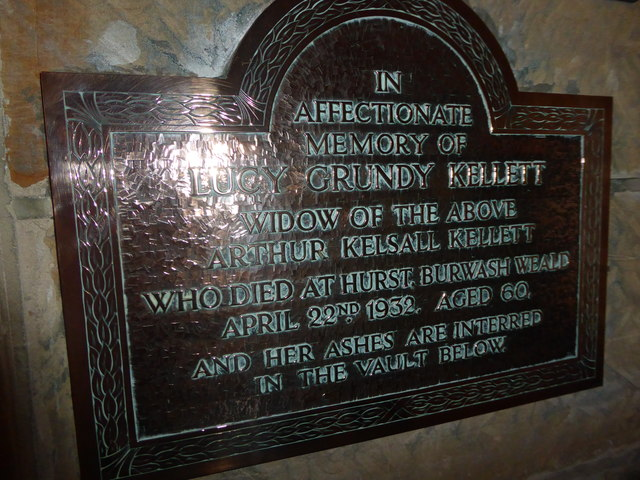 St Philip, Burwash Weald: memorial (9)