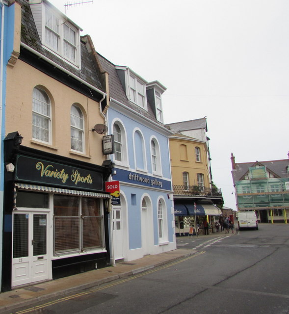 Variety Sports shop and Driftwood Gallery, Ilfracombe