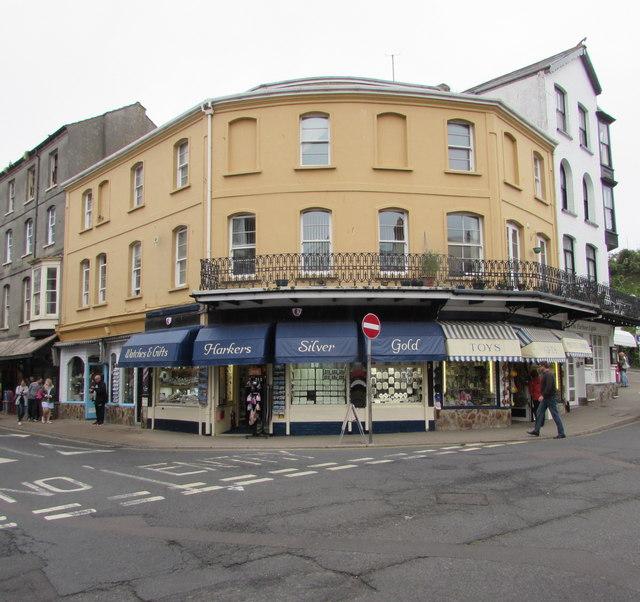Jewellers on an Ilfracombe corner