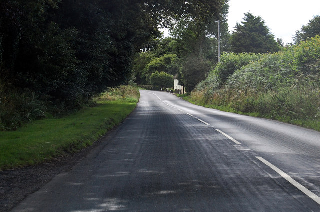 A3124 near Moorend Cottages