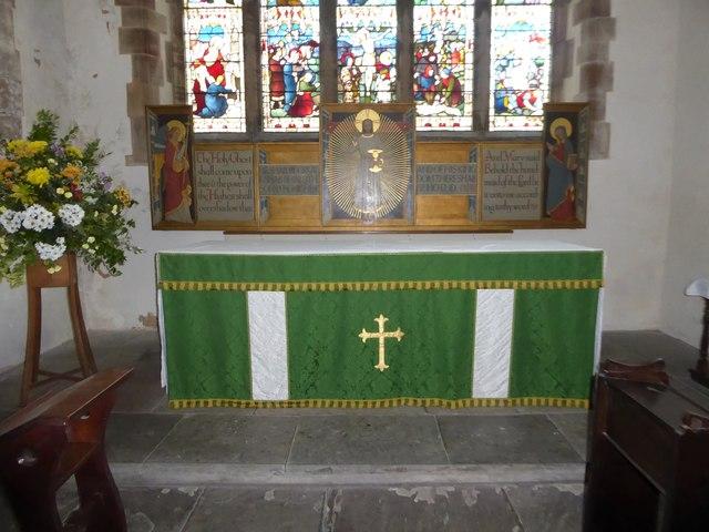 St Mary, Ticehurst: altar (a)