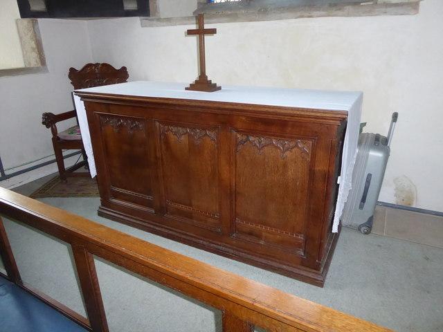 St Mary, Ticehurst: altar (b)