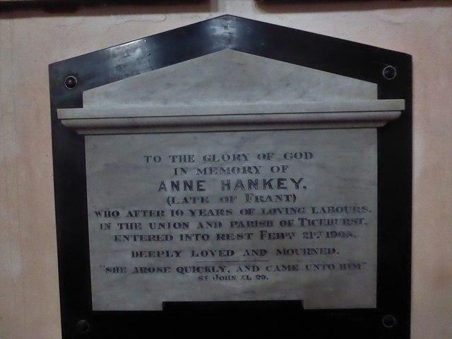 St Mary, Ticehurst: memorial (21)