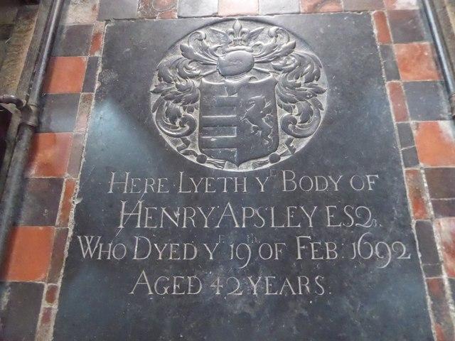 St Mary, Ticehurst: ledger slab (1)