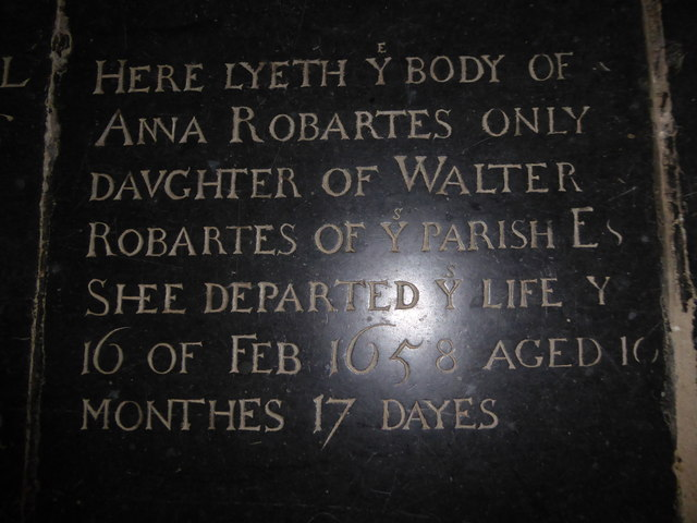 St Mary, Ticehurst: ledger slab (3)