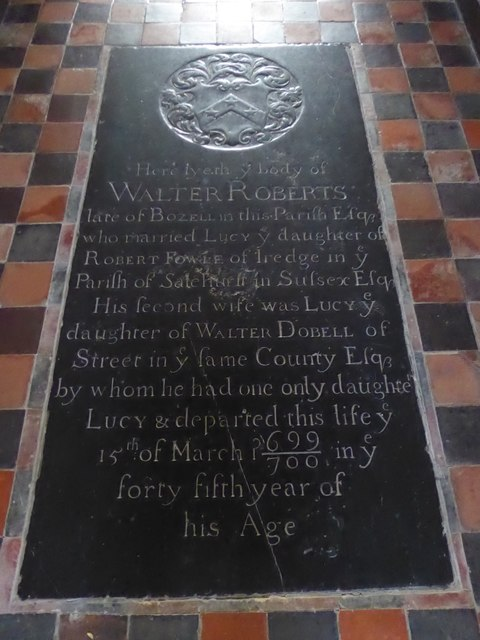 St Mary, Ticehurst: ledger slab (4)