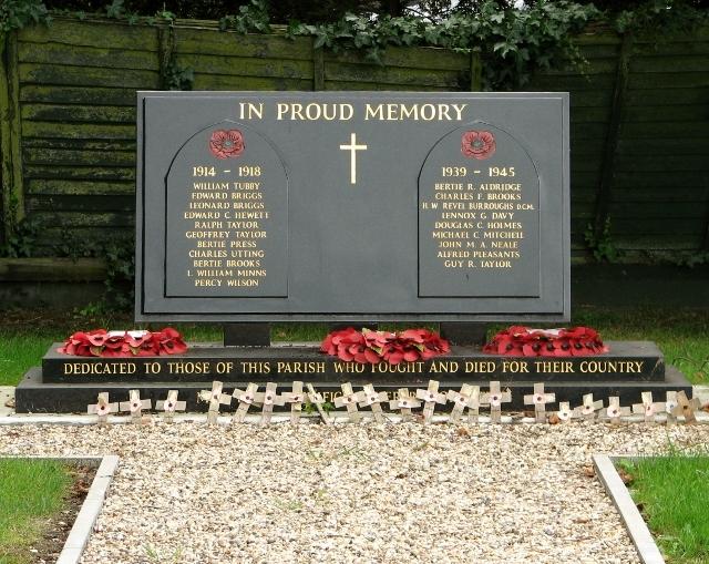 The new Poringland war memorial