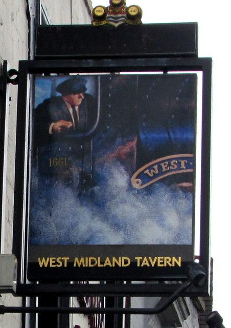 West Midland Tavern name sign, Worcester