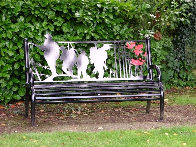 New memorial seat in Poringland's Memorial Garden