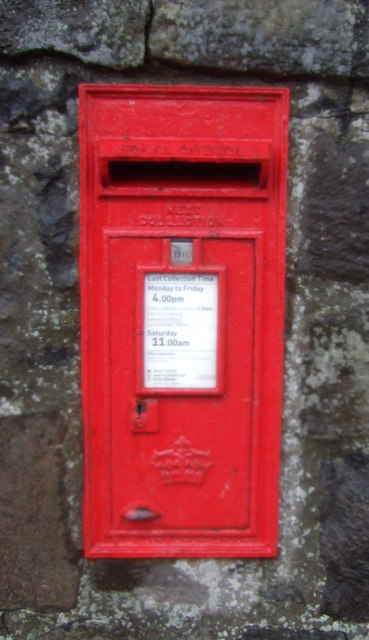 Elizabethan postbox on Main Street, Avonbridge