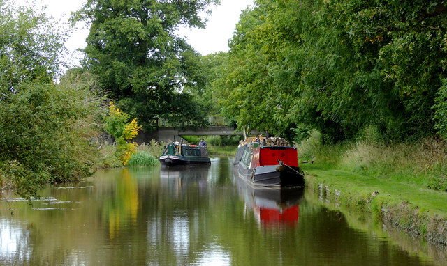 Llangollen Canal at Wrenbury Heath in Cheshire