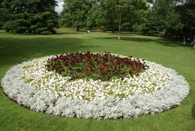View of a flowerbed in Greenwich Park