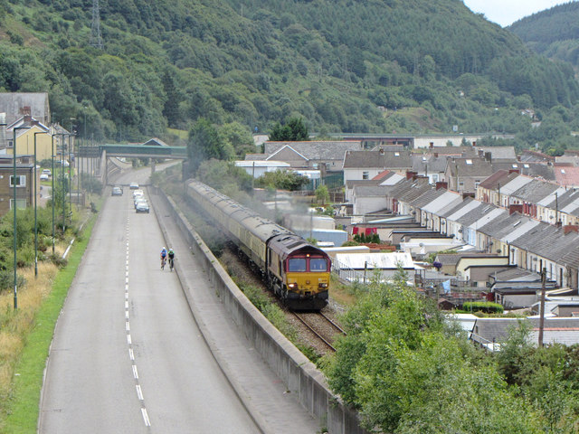 Railtour at Cwm
