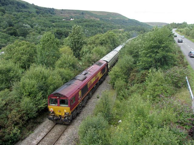 Railtour at Cwm