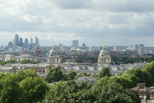 View of Shoreditch from One Tree Hill