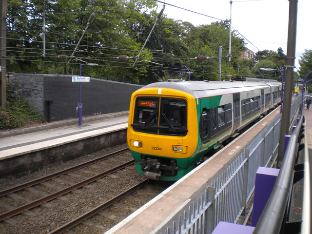 Train leaving Bournville station