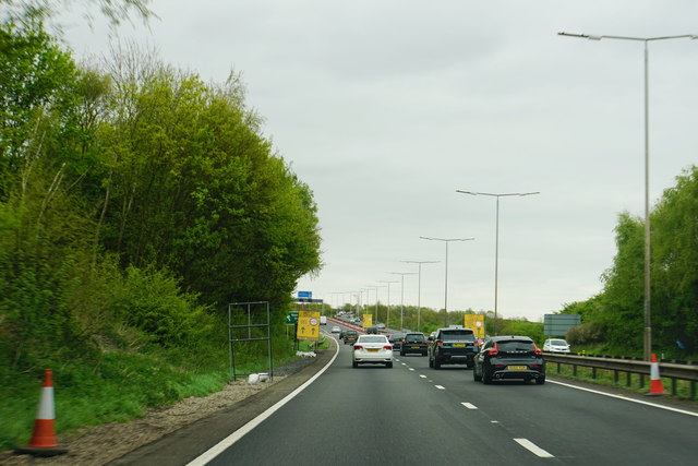 Slow traffic on the A42
