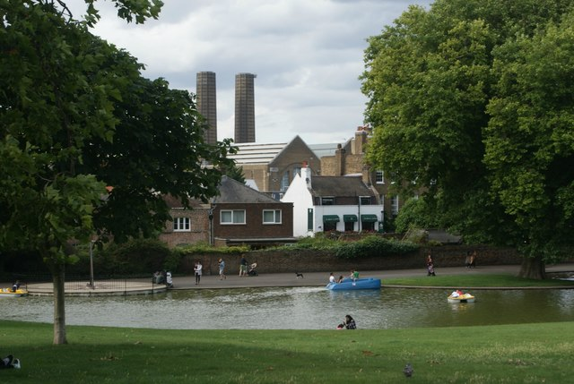 View of Greenwich Power Station from Greenwich Park