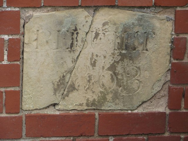 Date stone, footbridge over the River Hull
