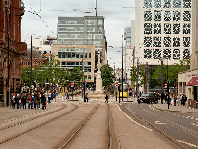 Manchester, Lower Moseley Street and St Peter's Square