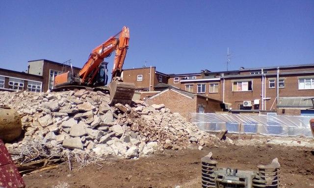 Demolition site, Cheeke Street, Exeter