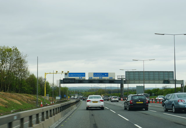 The M1 near Kegworth