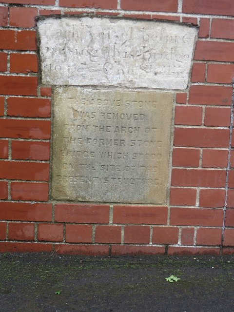 Inscribed stones, footbridge over the River Hull