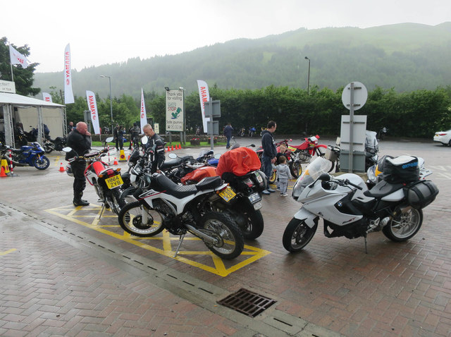 Motorbikes At Tyndrum