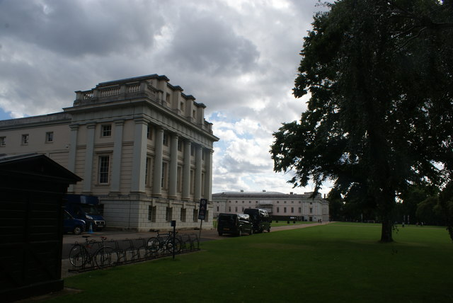 View of Queen's House and the National Maritime Museum from the Museum grounds