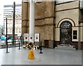 SJ8498 : Tributes at Victoria Station by Gerald England