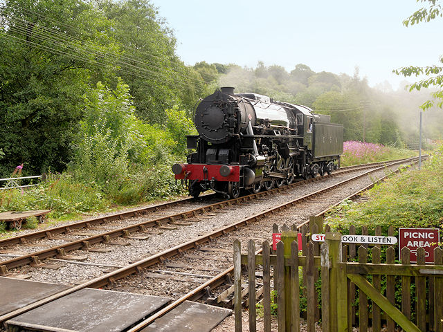 US Army Transportation Corps Class 160 Locomotive 5197 Approaching Froghall